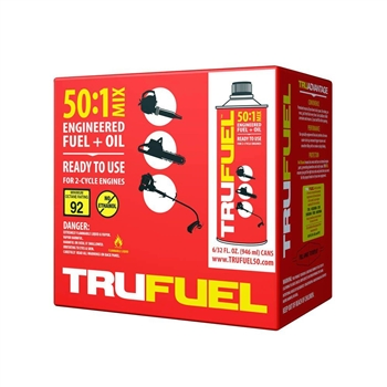 6 Pack - TruFuel 2-Cycle 50:1 Pre-Blended Fuel for Outdoor Power Equipment - 32 oz