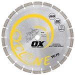 "OX-TC10 12"" laser welded diamond saw blade general use"
