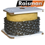 "Raisman saw chain 100' (30.5 meters) roll .050"", 3/8"" low profile, full chisel"