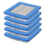 Genuine Briggs & Stratton Air Filter (5 X 491588S)