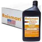 Raisman 2 Stroke Full Synthetic Oil, No-smoke, 1 Case (12 x 1 liter)