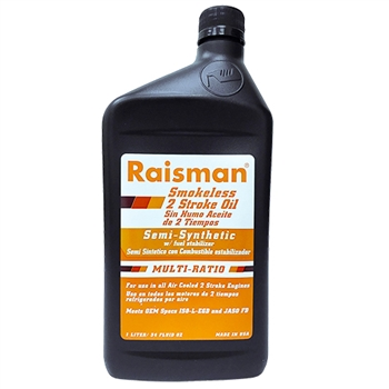 Raisman 2 Stroke Semi Synthetic Oil, No-smoke, 1 Liter JASO FD