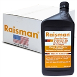 Raisman 2 Stroke Semi Synthetic Oil, No-smoke, 1 Case (12 x 1 liter)