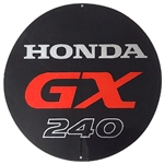 OEM Honda GX240 Starter Cover Decal