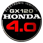 OEM Honda GX120 Starter Cover Decal (Old Style)