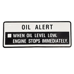 OEM Honda GX160, GX200-GX390 Oil Alert Decal