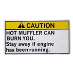 OEM Honda GX160, GX200-GX390 Muffler Warning Decal
