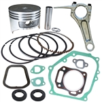 Honda GX200 piston kit with gaskets, oil seals and connecting rod