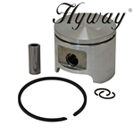 Husqvarna 350, 353 piston and rings assembly 45mm