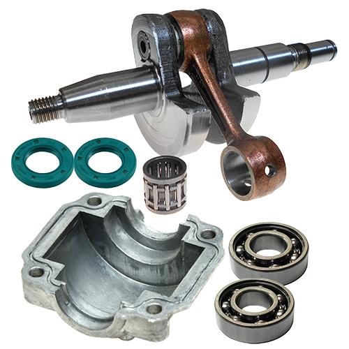 Stihl 018*, 019T, MS170, MS180, MS190T, MS191T crankshaft and bearings kit for 10mm piston pin*