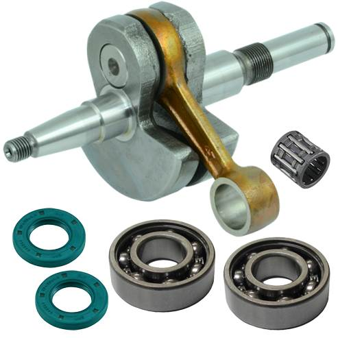 Stihl 029, 039, MS290, MS310, MS390 crankshaft replaces 1127-030-0402 with bearings, gaskets and seals