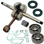 Stihl TS350, TS360, 08 crankshaft with bearings, gaskets and seals