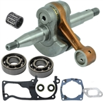 Husqvarna 357, 359 crankshaft with bearings, gaskets and seals