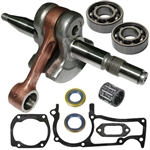 Husqvarna 362, 365, 371, 372 crankshaft with bearings, gaskets and seals