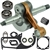 Husqvarna 395 crankshaft with bearings, gaskets and seals