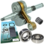 Stihl 066, MS650, MS660 late model crankshaft with bearings, gaskets and seals