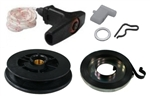 Stihl TS400 replacement starter recoil spring, handle, pulley & pawl kit