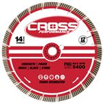 "Cross Performance 14"" Premium Turbo Super Fast Diamond Saw Blade"